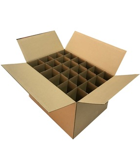 24 bottles divider corrugated paper packing box for transport and storage hot sale