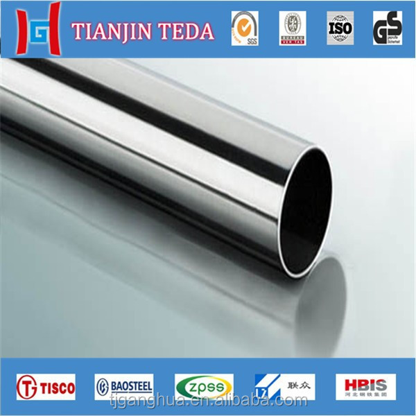 factory provide EN standard 410s material stainless steel pipe size