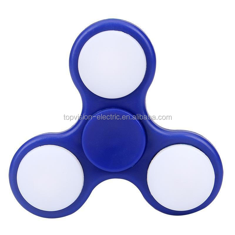 2017 hottest LED Fidget spinner edc stress reducer relieves ADHD led hand spiner spinner