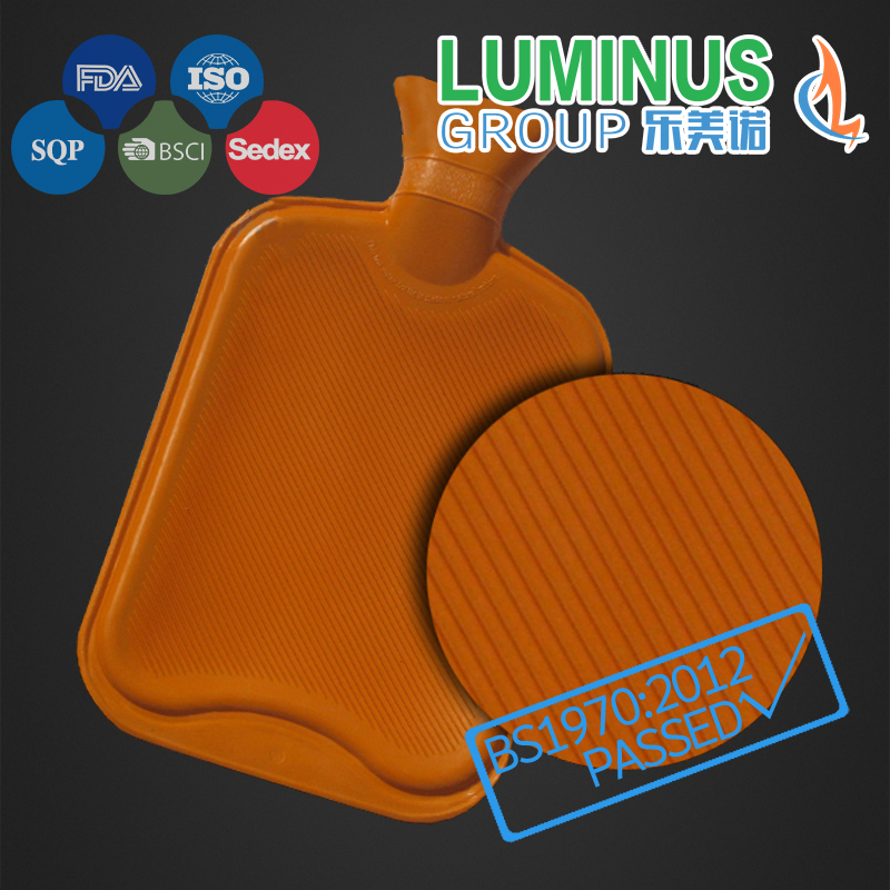 Natural Rubber Hot Water Bottle for Europe