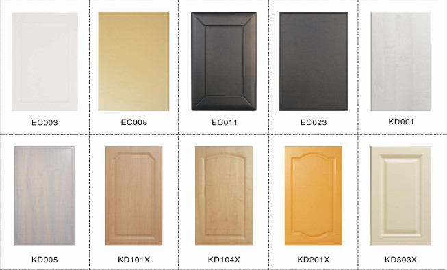 color combinations folding kitchen cabinet pvc edge banding - Kitchen Cabinet Material