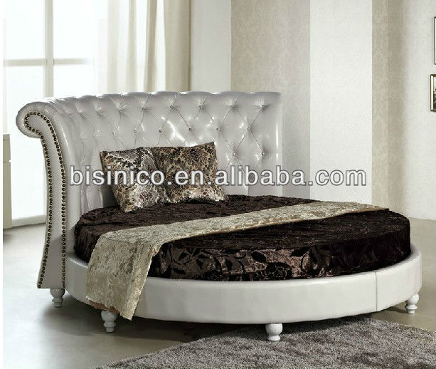Bisini Modern Furniture,Leather Round Bed,Italian Style Double Bed Design  Bed Frame - Buy Double Bed Design Furniture,Italian Design Bed Frame,Bed ...