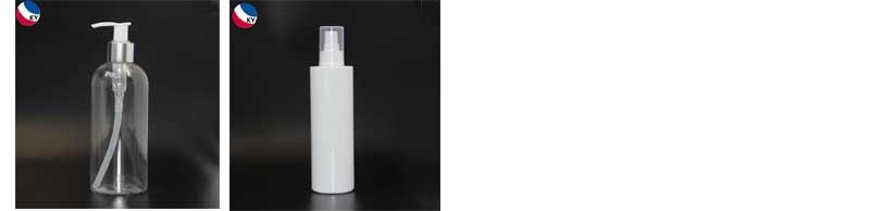 Forma quadrada de plástico retangular recipientes de garrafas de shampoo e condicionador
