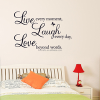 Sales-Promotion Live Love Laugh English Letters Waterproof Vinyl Wall Decal/PVC Living room Home Decor Wall Stickers DZ001