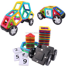 Magnetic Tiles Building Block Magnet Stacking Toy Set 46pcs