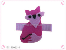 Aligator hair clips,non-woven fabric hair pins,all kinds of animals shape hair clip