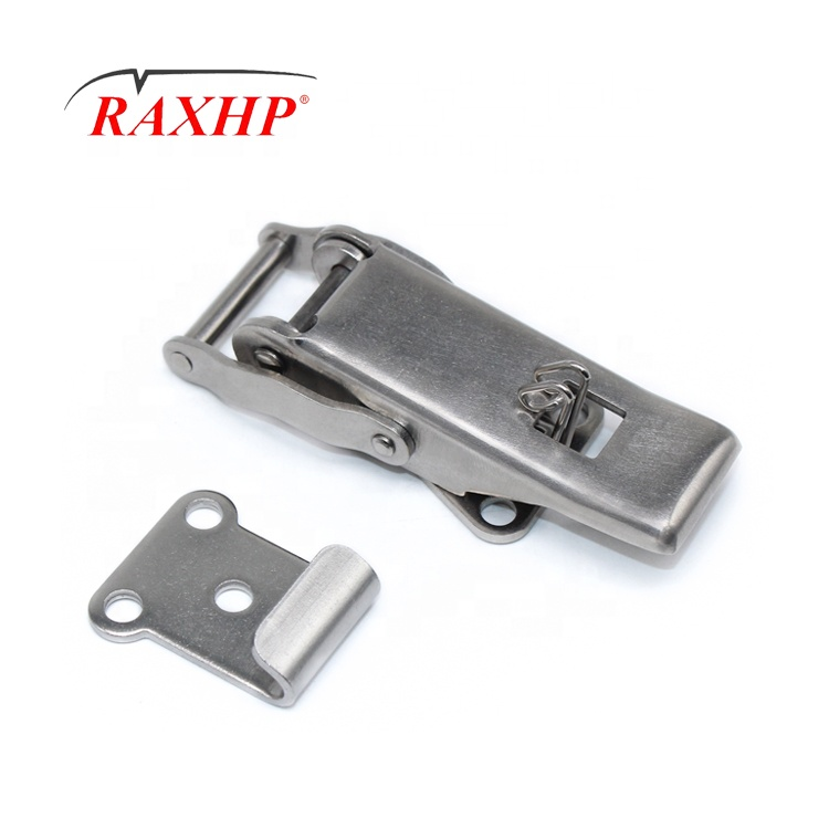 OEM Customized stainless steel Twist luggage spring Toggle Draw Latch lock hasp