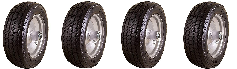 "Marathon 4.10//3.50-6/"" Flat Free All Purpose Utility Tire on Whe... Hand Truck"