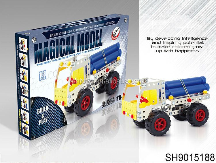 new idea 2015 intelligent diy model metal car toys mix designs metal toy car kids creative