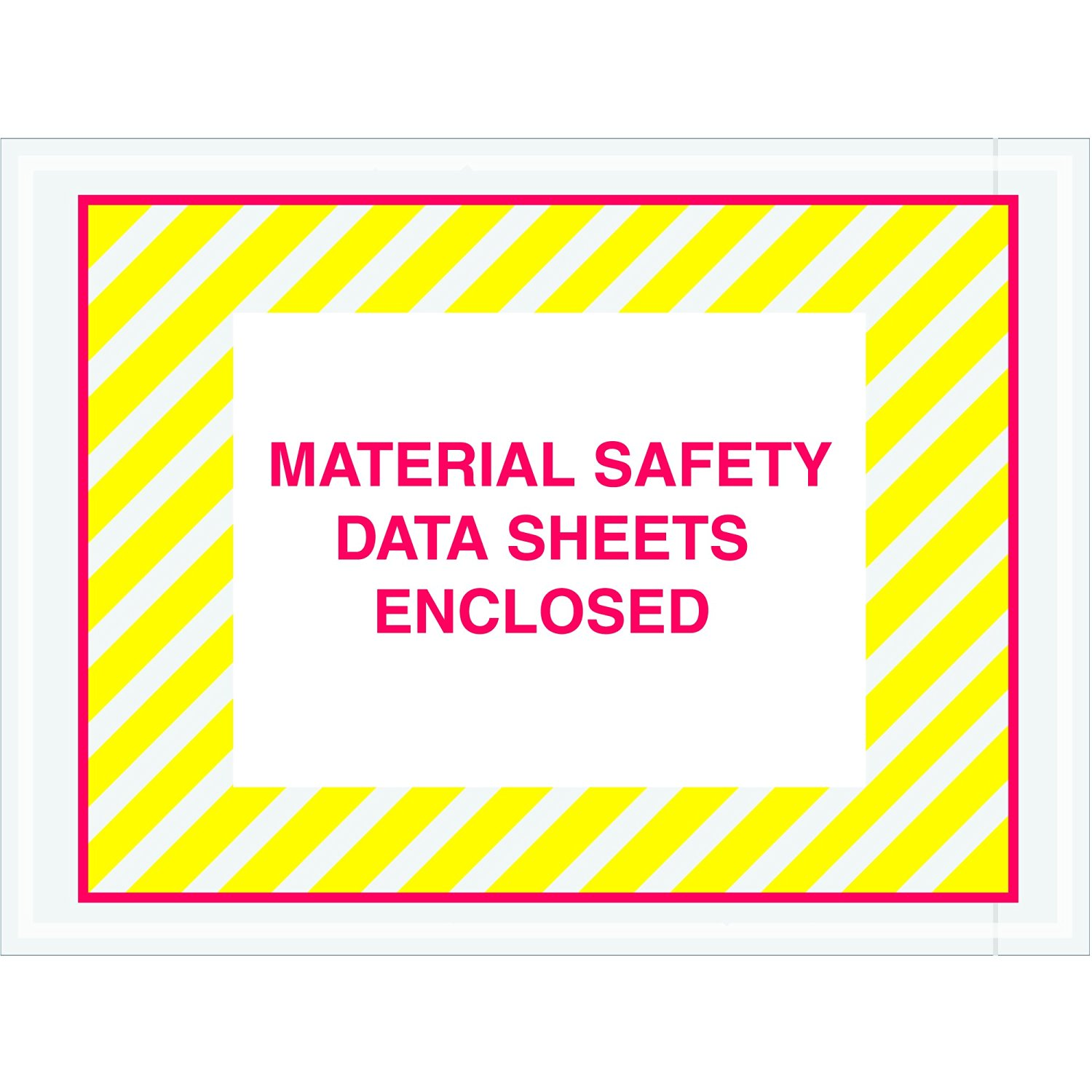 """Tape Logic TLPL423 Material Safety Data Sheets Enclosed Envelopes, 4 1/2"""" x 6"""", Red/Yellow (Pack of 1000)"""