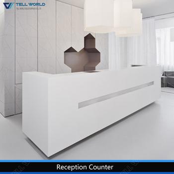 Büromöbel weiss hochglanz  Gerade Beleuchtung Led Weiß Hochglanz Büromöbel Rezeption - Buy ...