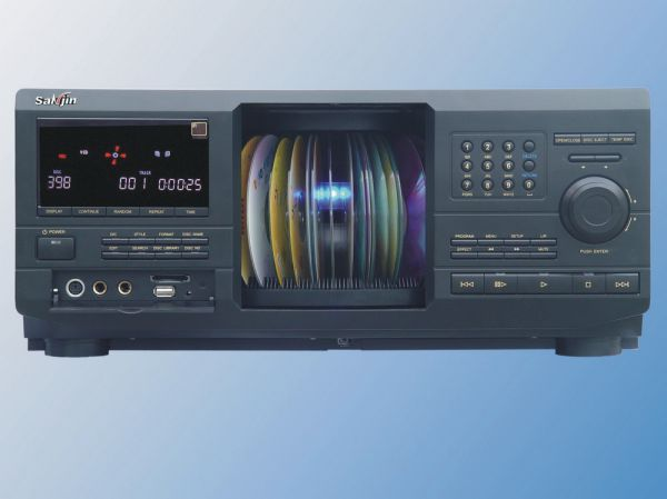 Dvd PLAYER portátil ; 400 DISC DVD CHANGER