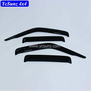 For Navara D22 2005 Window Visors Deflectors Acrylic Sheet Door Rain Visor Accessories