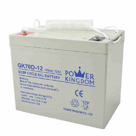 Power Kingdom higher specific energy 12v lead acid battery with good price wind power system-3