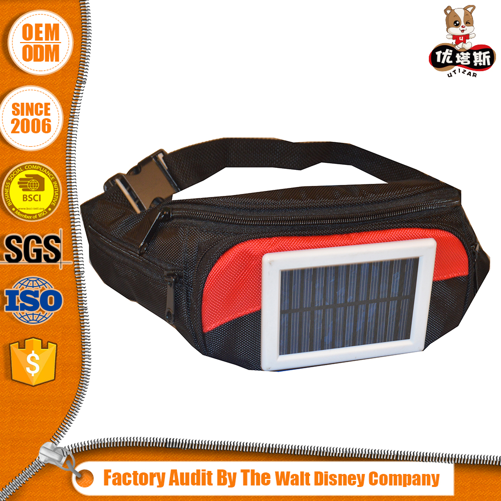 New Waist Bag with Solar Panel and custom logo plus OEM size for phone charger