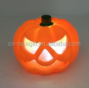 Battery Operated Led Halloween Decoration Table Lights With Pumpkin