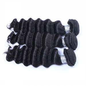 Unprocessed indian deep wave remy human hair weft two tone braiding hair