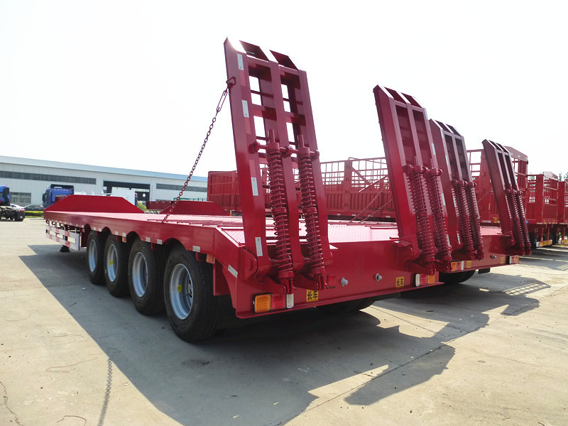 Tri Axle Front Loading Lowboy Gooseneck Trailers With