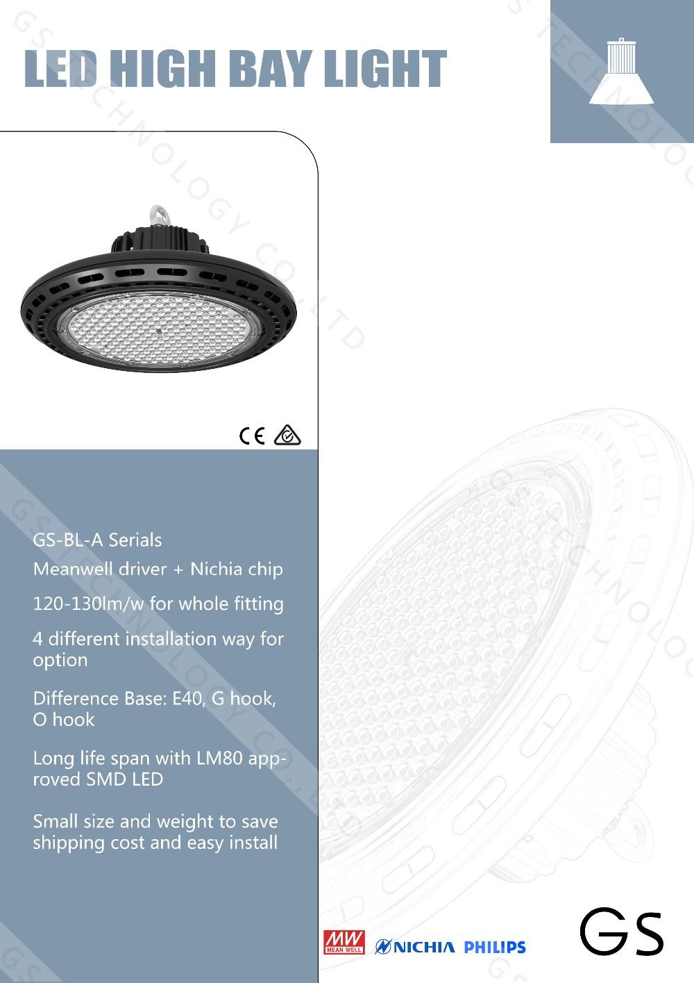 Buy Led High Bay Lighting 90 120 Degree Ip65 100w 120w 150w 200w ...