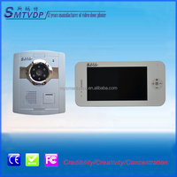 The slimmest and simplest hanging-stall 7 inch touch screen villa intercom system