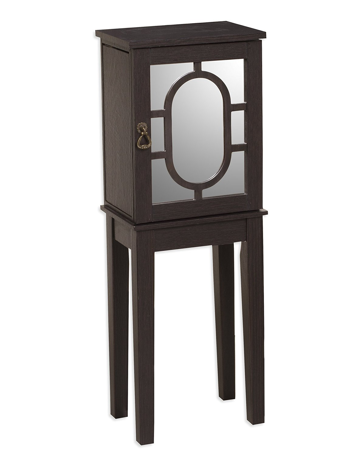 Get Quotations · LaFromboise Black Solid Wood Jewelry Armoire