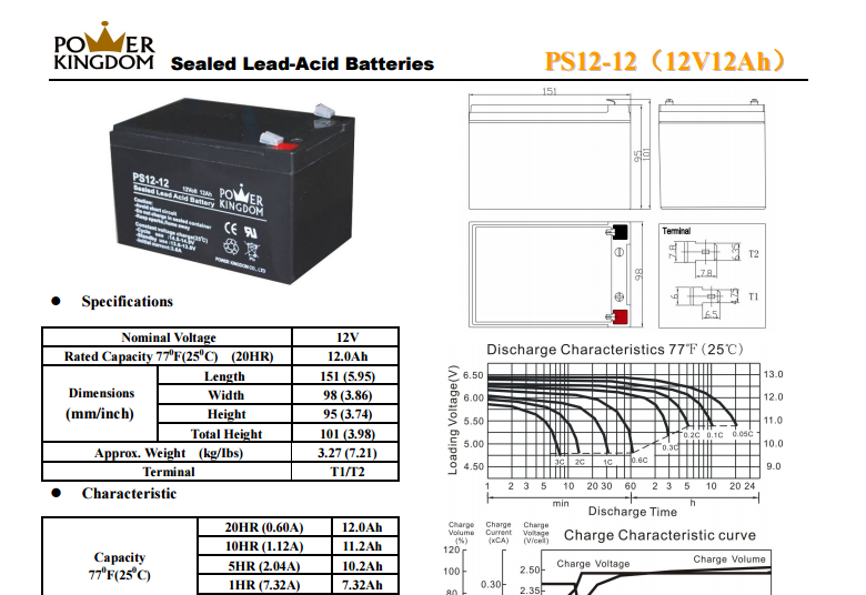 High quality sealed lead acid battery 12 v 12ah