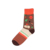 Hot sell jacquard colorful image cotton high elastic socks
