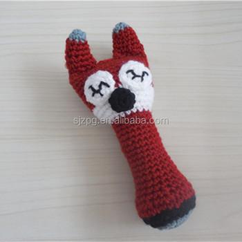 Handgemachte Fuchs Tier Häkeln Hand Rasseln Buy Product On Alibabacom