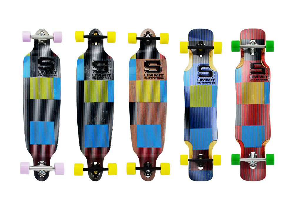 Canadian maple long board skateboard complete manufacturer in china;wood maple drop down longboards
