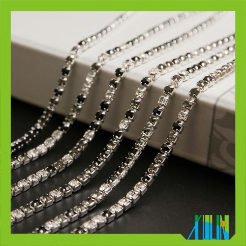 wholesale density bling bling roll rhinestone trimming cup chain