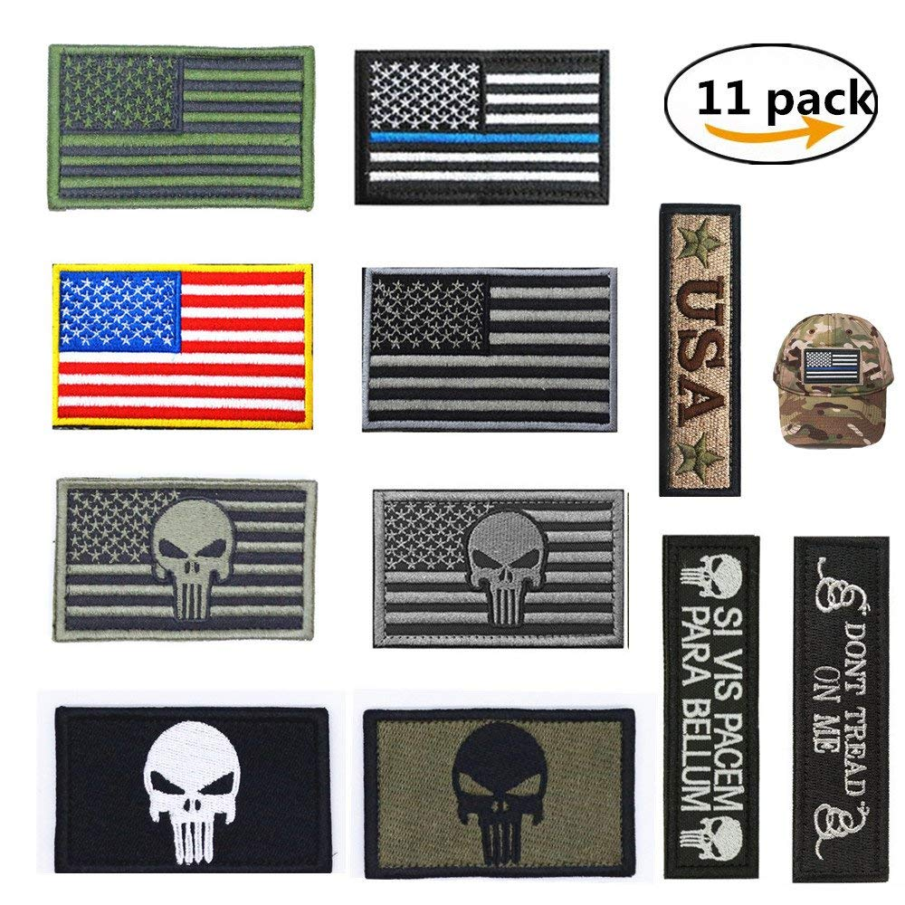 Bundle 13 Pieces Great Value Tactical Morale Patch Full Embroidery Velcro...