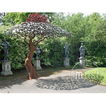 Großes Skulptur Metall Im Freien Fertigt Garten Edelstahl Baum