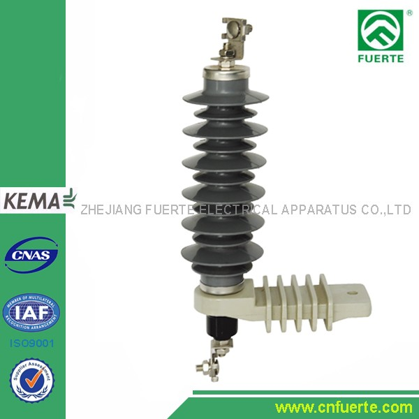 18kv Surge Arrester polymer housing ZnO metal Oxide Lightning Arresters 5kA