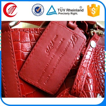 Customised Personalized Logo Leather Tags Cheap Luggage Tags Wedding ...