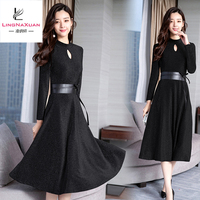 2019 fashion European ladies sexy pregnant dress with long sleeve