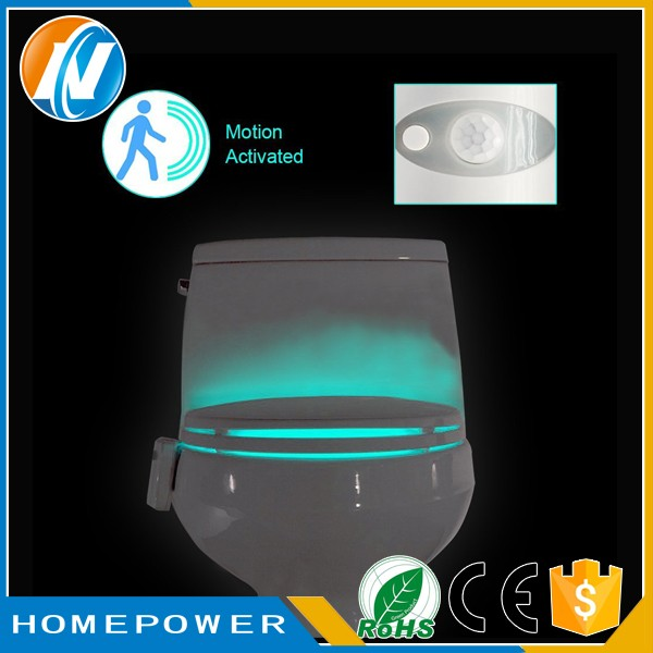 Bathroom Night Light 16 color led toilet light use 3xaaa battery,toilet bowl light