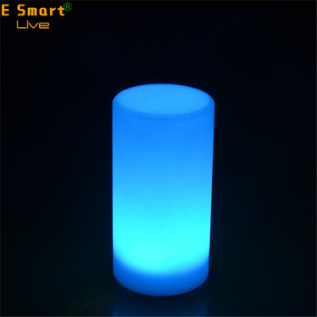 rechargeable table lamp/cordless PE plastic led table lamp light
