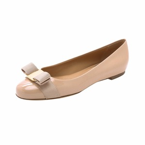 High quality handmade Office lady comfortable leather shoes nude color Sexy Women's Bow Ballet Flat round toe