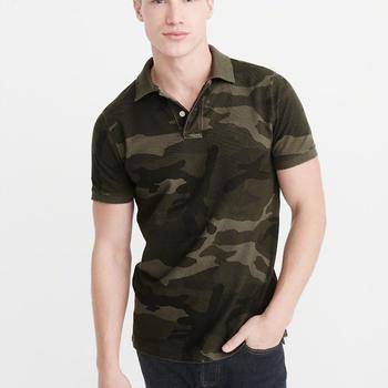 5c7da509 2018 New Brand Men customized logo Camouflage Shirt Fashion Casual Camo  Short Sleeve Cotton Polo T