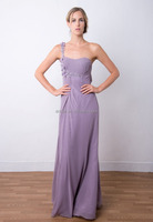 EL-8535A Chic Single Shoulder Beaded Chiffon Maxi