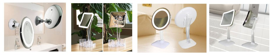 Double Sided Makeup Mirror With Led Light 10x Magnifying