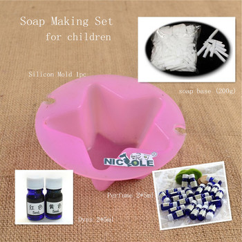 Silicone molds soap making set for children diy include for Soap craft for kids