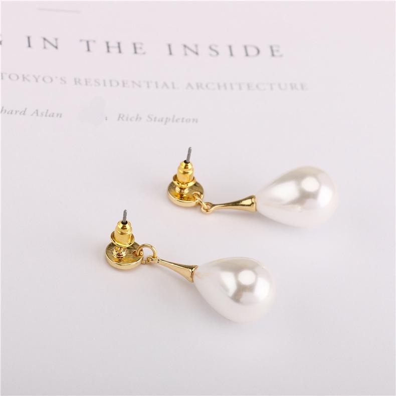 306936a711f2 2019 nuevo S925 aguja de plata pendientes de perlas de moda clip de oreja  aretes venta