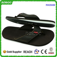 RW29488 leather chappals men, high quality men leather flip flops