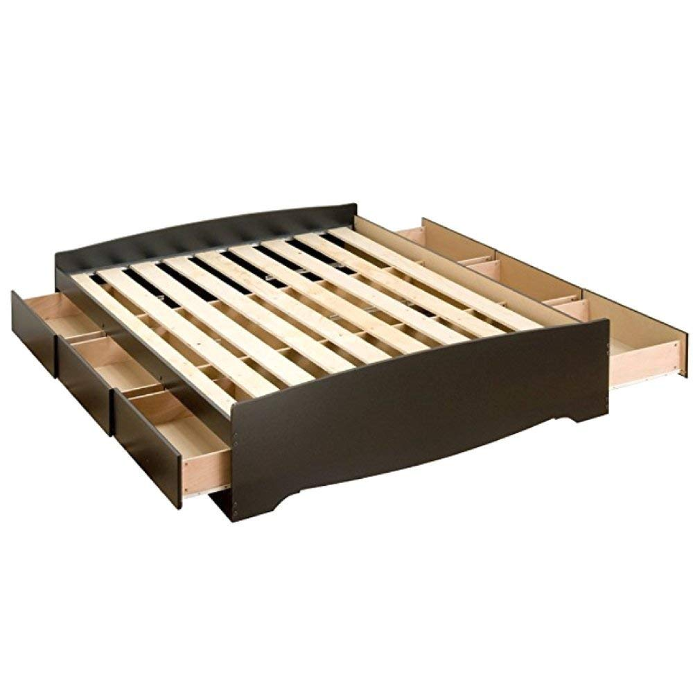 Get Quotations · Platform Queen Bed Frame With Storage Drawers Gorgeous  Style 6 Spacious Sturdy Drawers All Metal