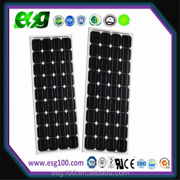 120W solar panel mono solar pv module with CE,ISO,TUV,CQC certifications