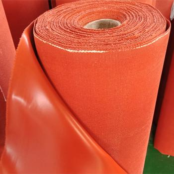 Silicone coated fiberglass Fabric 0.6mm 0.8mm 1mm for Fireproof inflaming retarding fire proof from China factory ROCKPRO