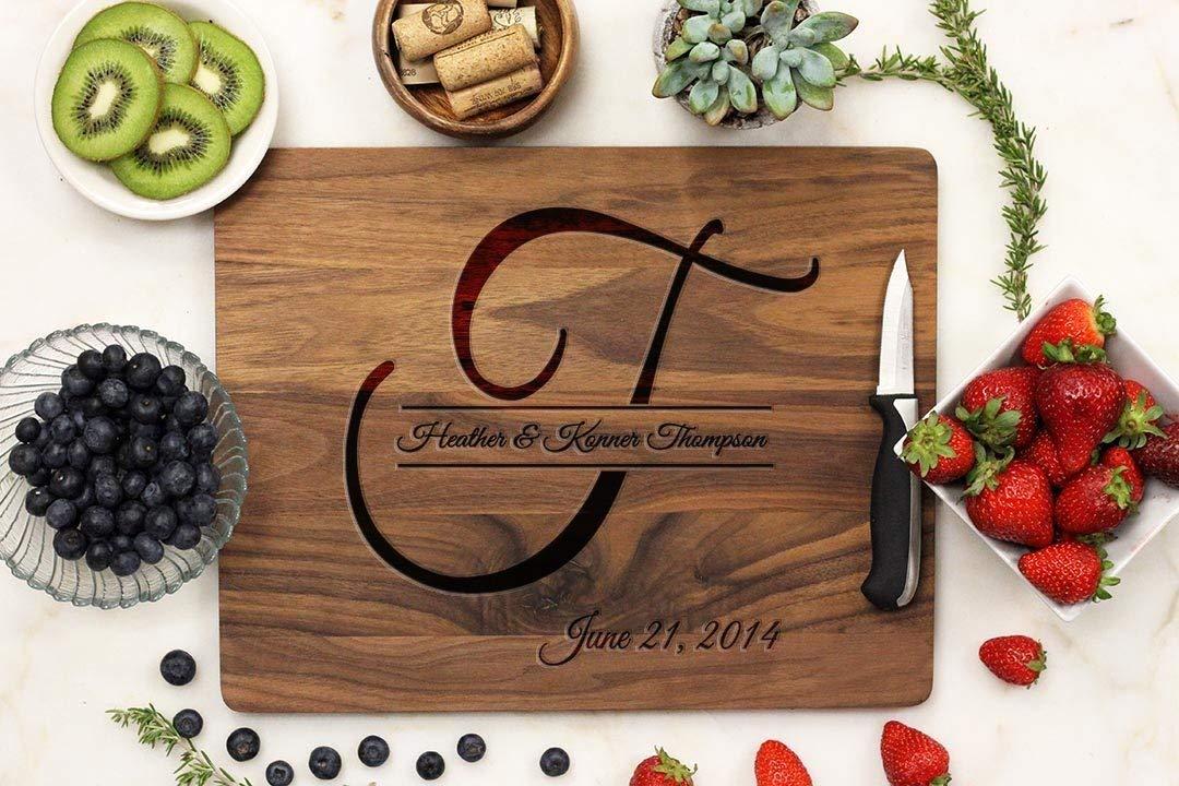 Personalized Cutting board, Custom cutting board, Custom Engraved cutting board, Walnut Wood 11 x 14 -21030-CUTB-002
