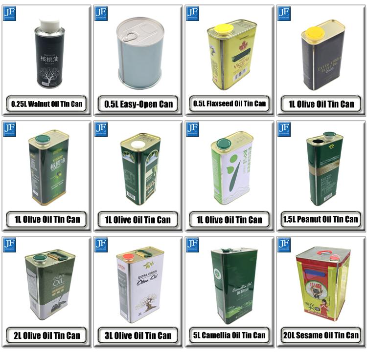 2.5l piazza vuota commestibile olio extra vergine di oliva imballaggio barattolo di latta