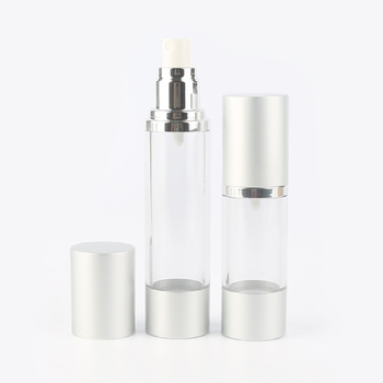 Small 15ml airless lotion bottle containers